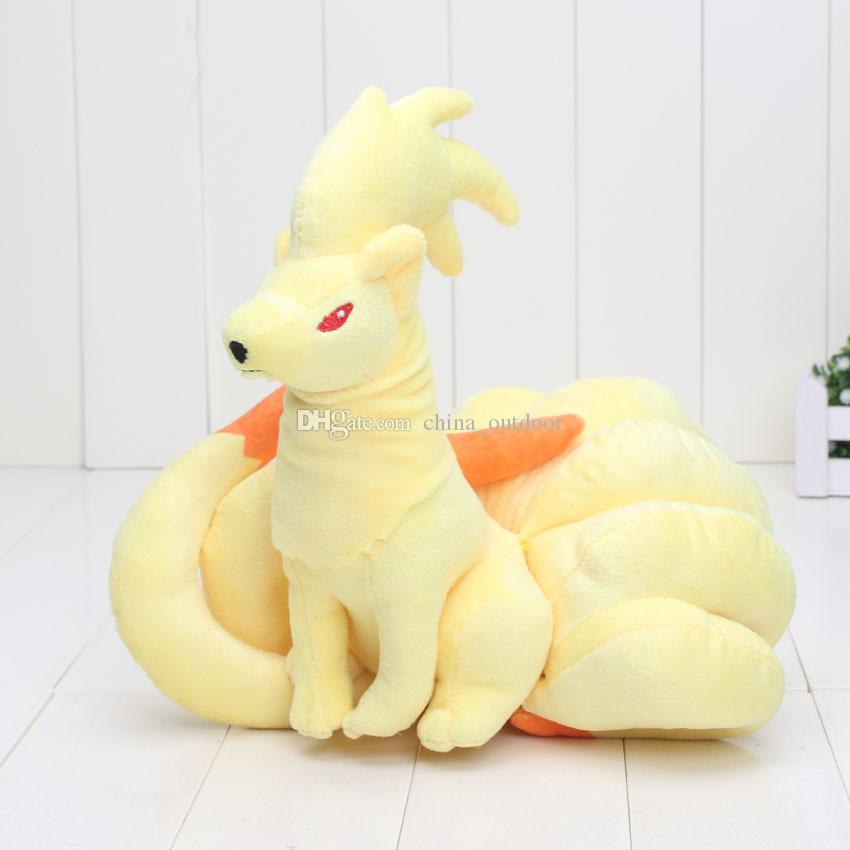 pikachu toys Center 21cm Ninetales OA Kyuukon Plush Stuffed Animals Toys Christmas & New Year Gifts