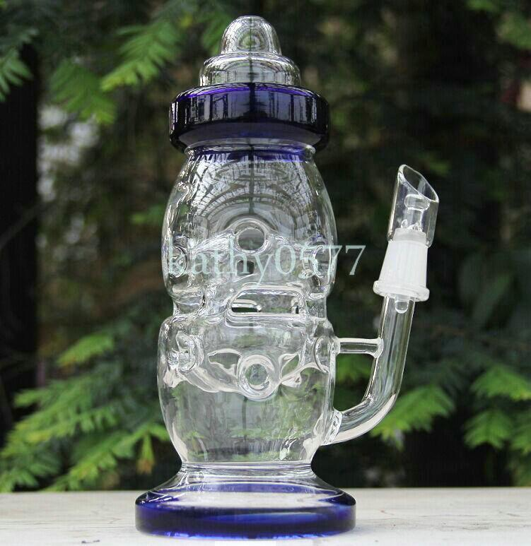 Bong! BONG! New high teach Baby Bottle Oil Rigs water pipe glass bongs with pinholes diffusor with 14.5mm joint sturdy quality glass