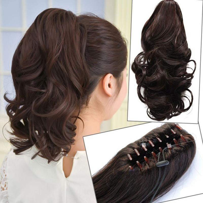 Wholesale Synthetic Long Lady Wowen Long Claw Clip Ponytail Pony