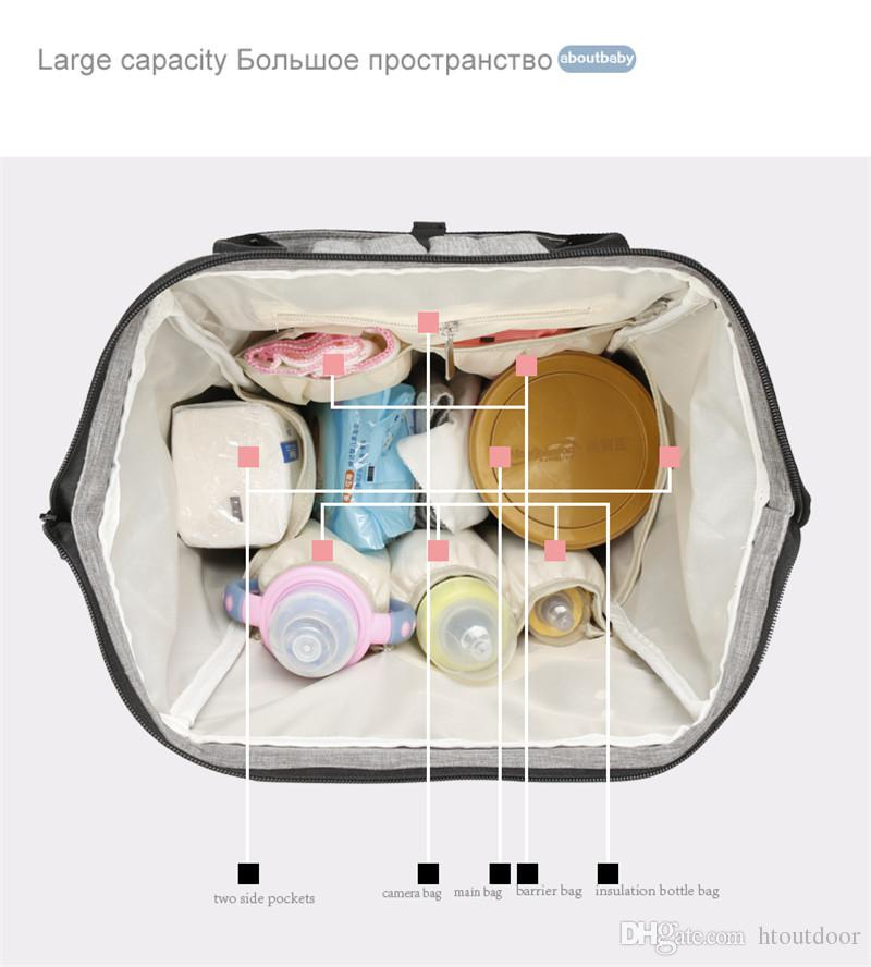 Fashion Casual Baby Pad Changing Diaper Nappy Mommy Mummy Bag Pack Maternity Women's Outdoor Travel Handbag Backpack Organizer