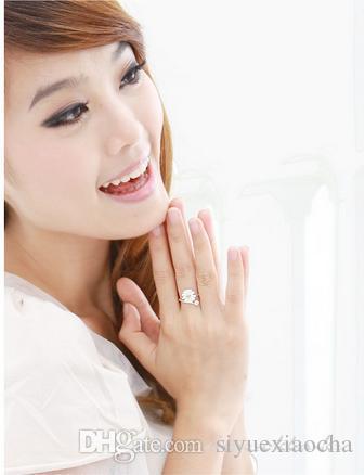 Little Daisy Ring de couleur blanche, mode et style simple, taille ajustable, sans fade, qualité Hign et livraison gratuite