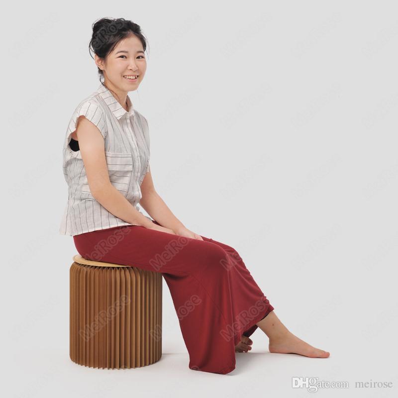 H35xDia32cm 소설 혁신 가구 팝 스마트 의자 실내 방수 및 방습 아코디언 스타일 크래프트 높이 13.5