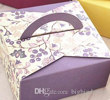 New 14x14x6.5cm chocolate boxes,6 styles boxes For Biscuit cookie wedding candy Gift Box 100pcs/lot 63-80g moon cake food box free shipping