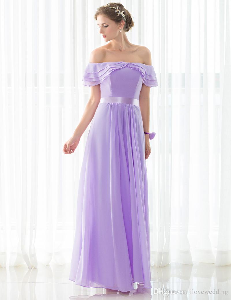 Compre Vestidos De Dama De Honor Hechos A Medida De Hombro Vestido ...