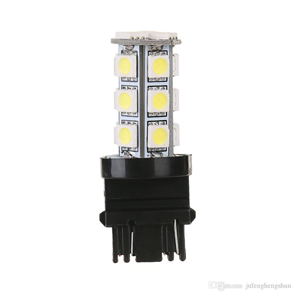 10 Adet LED Araba Ampul 3157 18SMD 12 V Soğuk Beyaz 6000 K LED Ampul Fren Kuyruk Park DRL Gündüz Koşu Işık Evrensel LED Lamba