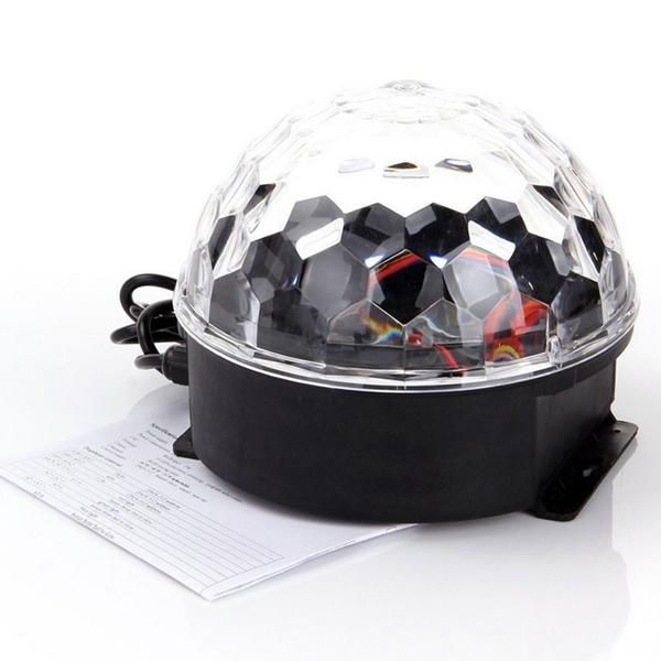 Stage Lights Laser Projector LED Rotated Base Voice-activated Led Crystal Magic Ball Light KTV Disco DJ Party Lights