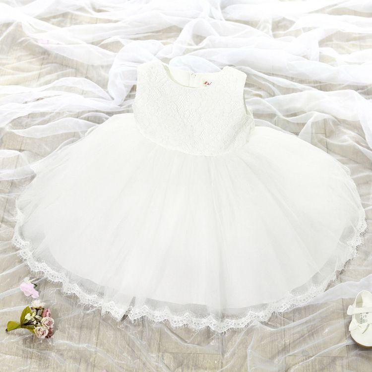 Großhandel Baby Mädchen Spitze Kleiderkind Sleeveless Prinzessin ...