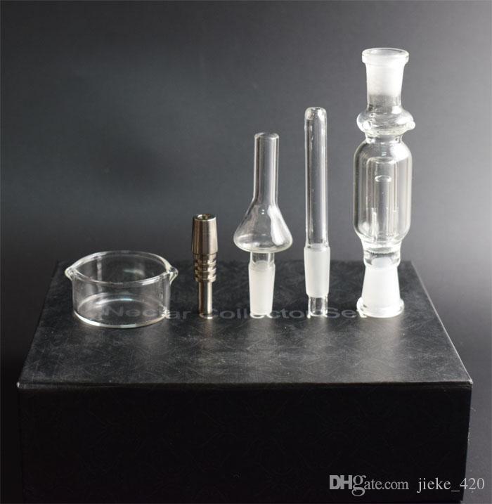Оптовая горячие продажи микро нектар коллектор Kit Micro NC 10 мм со стеклом титана ногтей нектар трубы Титана ногтей курение водопровод