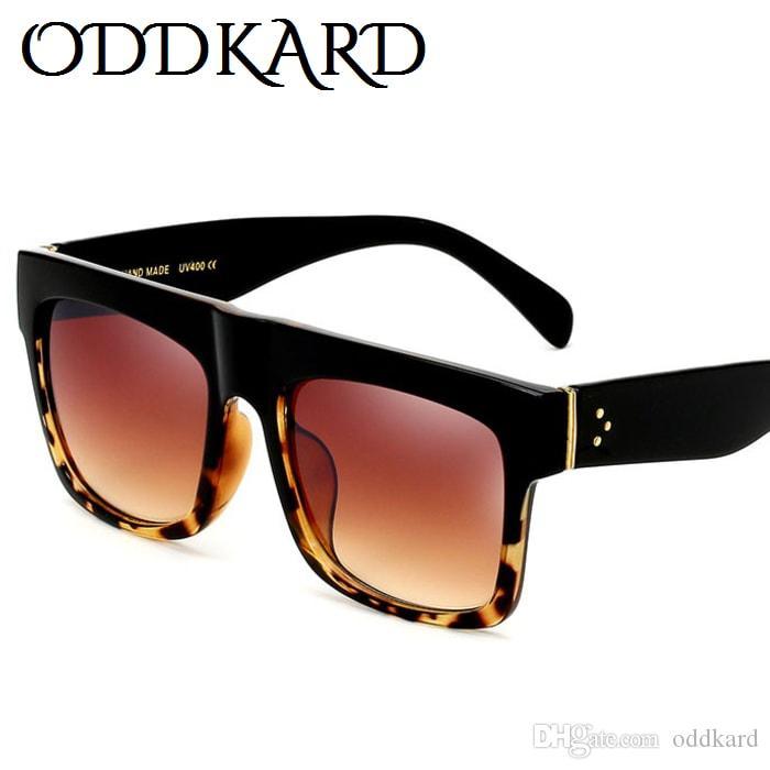0fc3e8cd6a143 ODDKARD Casual Flat Top Sunglasses For Men And Women Retro Brand Designer  Square Sun Glasses Oculos De Sol UV400 Men Sunglasses Women Sunglasses  Square ...