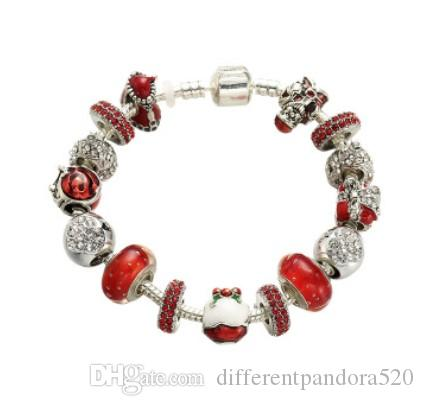 Fashion 925 Silver Crystal girl Charm European Beads Fit Necklace Bracelet DIY !