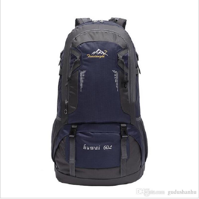 60L 2016 новый открытый альпинизм сумка путешествия рюкзак пешие прогулки рюкзак Велоспорт рюкзак