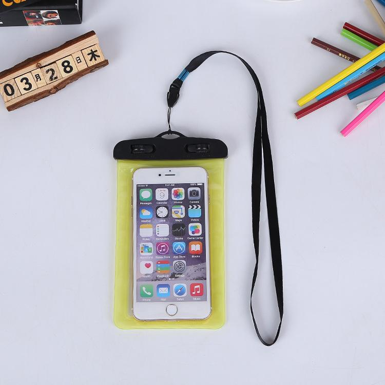 High Quality Clear Waterproof Pouch Dry Case Cover For 4.8-6.0 inch Phone Camera Mobile phone Waterproof Bags With Lanyard