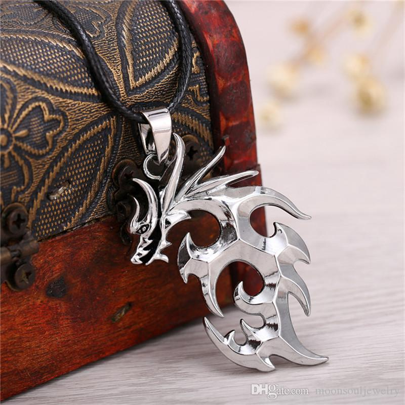Popular Dragon Ball Pendant Necklace Fashion Anime Cosplay Alloy Dragon Necklace Black Leather Rope Dual Purpose Jewelry Key Chain
