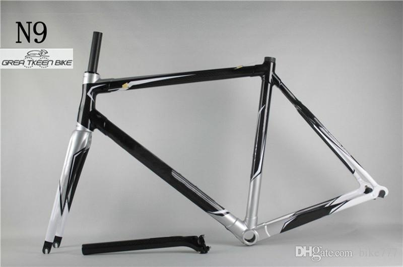 Karbon fiber T800 yol bisiklet Çerçeve DCRF03 N9 BSA iç kablo 22 hız 700C tekerlekler