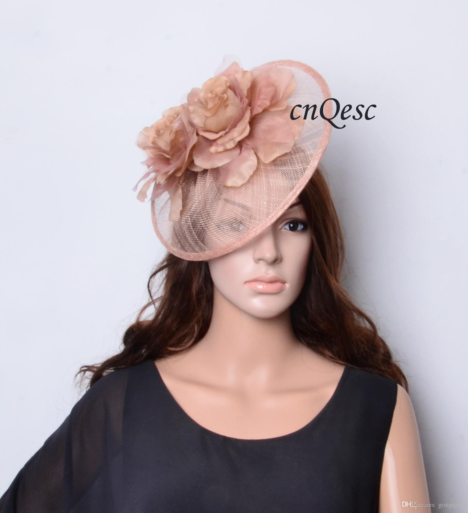 New heather pink big sinamay fascinator hat silk flower fascinator new heather pink big sinamay fascinator hat silk flower fascinator formal hat for tea garden party royal races kentucky derby mightylinksfo