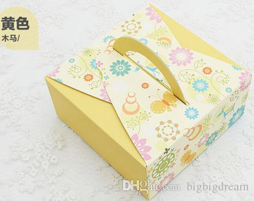 Новые 14x14x6.5cm Шоколадные коробки, 6 ящики стилей для печенья печенья свадебные конфеты подарочная коробка 100 шт. / Лот 63-80г Луна торт Пищевая коробка Бесплатная доставка