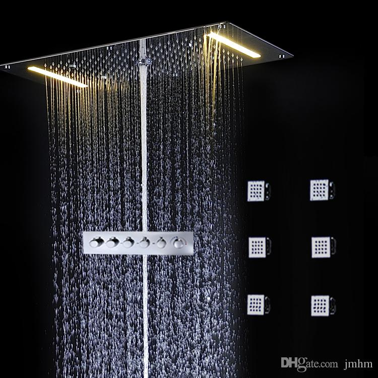Waterfall Rain Shower System In-Wall Conceal Mounted Six Body Jets ...