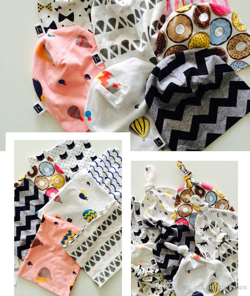 10 Design Baby 0-3T Girl Boy Caps DHL Toddler cute animal Fox whale ice-cream Pattern Hat for choose cotton soft hats B001