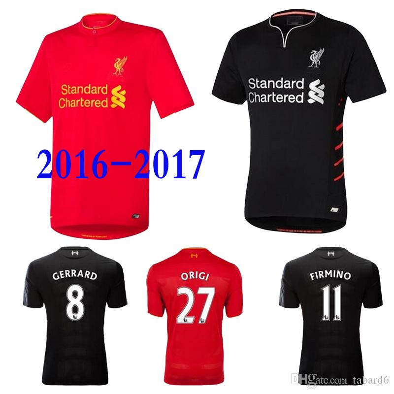 reputable site 42c62 d98fd 2016 2016 2017 Liverpool soccer jersey Home Away Jersey soccer jerseys high  quality sportswear Liverpool FC