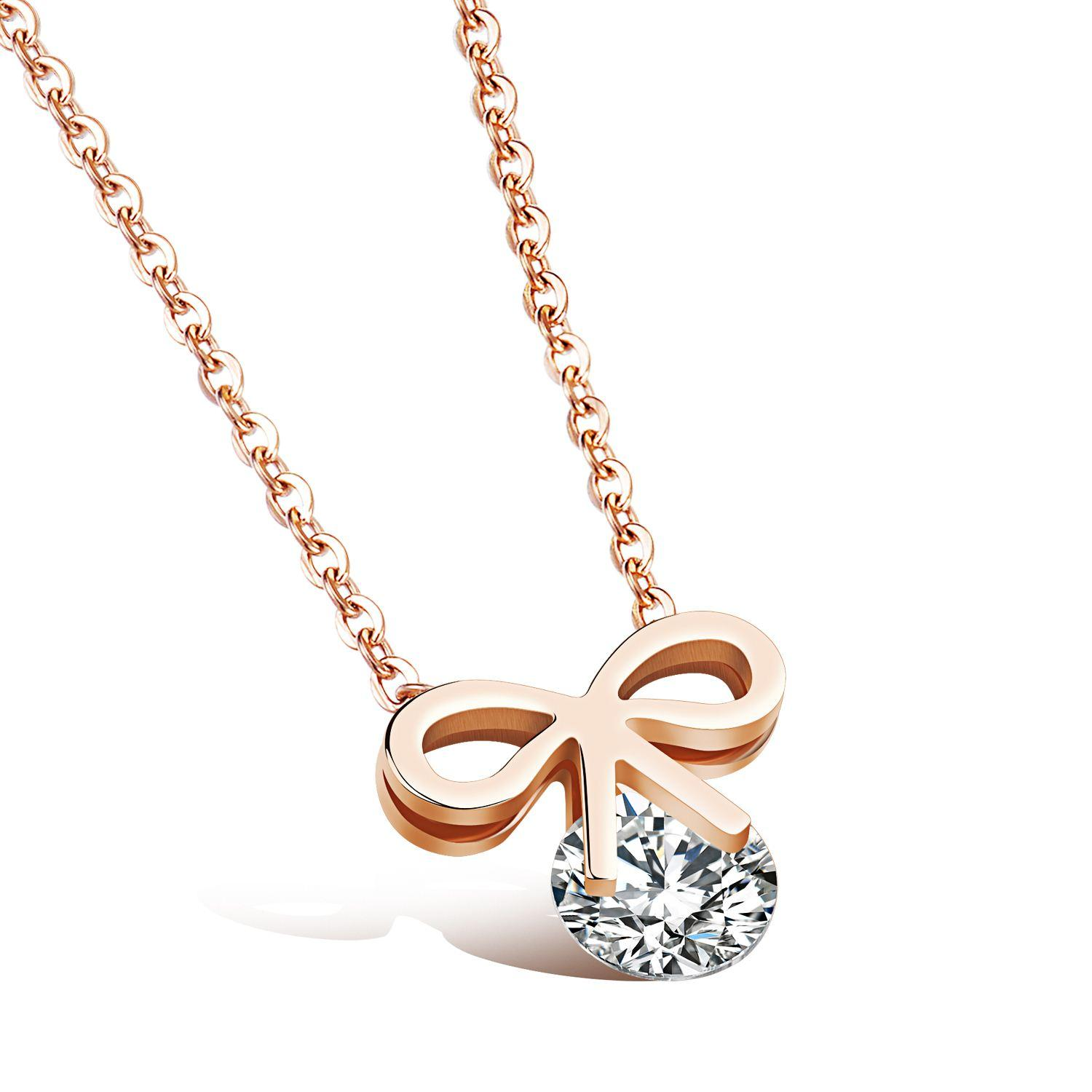 Wholesale Korean Fashion Sweet Butterfly Necklace Female ...