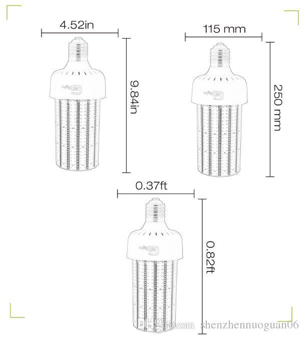 Venta al por mayor / 250W Metal Halide / HPS Replacement 80W LED lámpara del bulbo del maíz E39 E40 Mogul Base Pole Fixture Light