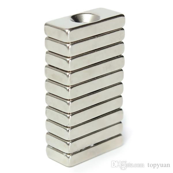 N52 20x10x4mm Strong Magnets 4mm Hole Rare Earth Neodymium Magnets