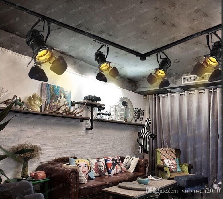 Loft kişilik spot ışıkları tavan lambasını takip eder. Akkor Enerji Tasarrufu LED ışık Yaratıcı sanatlar kamera droplight LLFA11