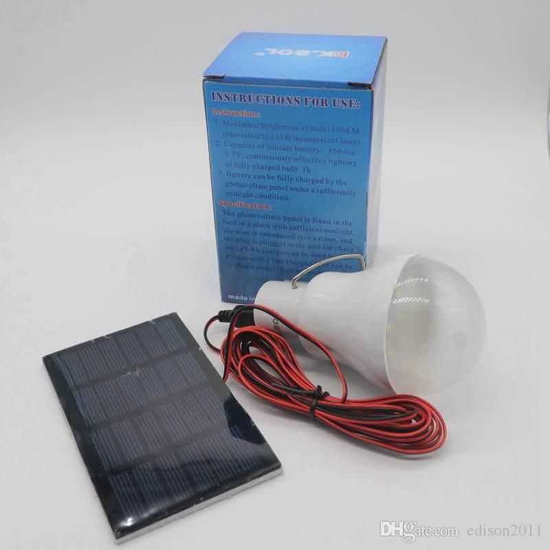 Sıcak Satış Ev Kullanımı Taşınabilir Güneş Enerjisi LED Ampul Lambası Açık Camptent Balık Tutma Lambası Mobil Acil Durum Işık