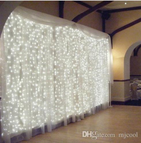 Negozio di luci della stanza organizzato 6 m * 2 m 384led luci lampeggianti luci della stringa all'aperto Luci decorative Luce Della Tenda Luci Della Stringa le stelle