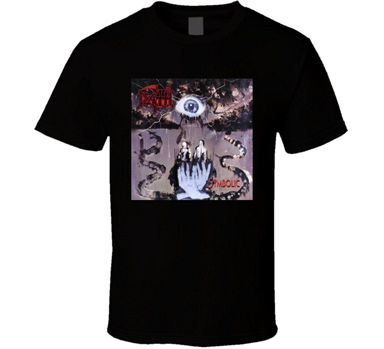 Death Symbolic Rock Band Album Cover Classic T Shirt Cloth T Shirt