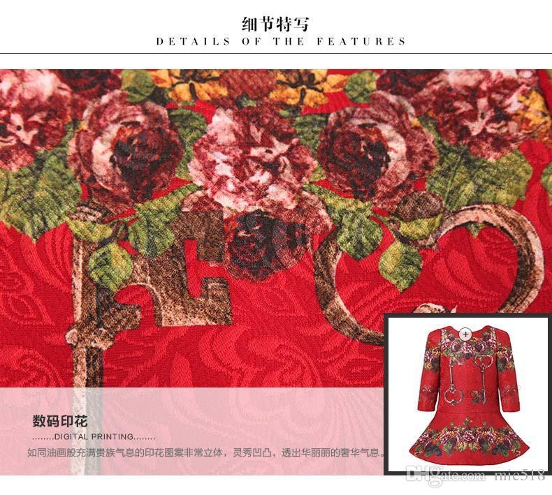 wlmonsoon Jacquard Girl Dress 2016 New Brand Girl Elegant Dress Floral Print Kids Dresses for Girls Clothes Dobby Vestidos Infantil