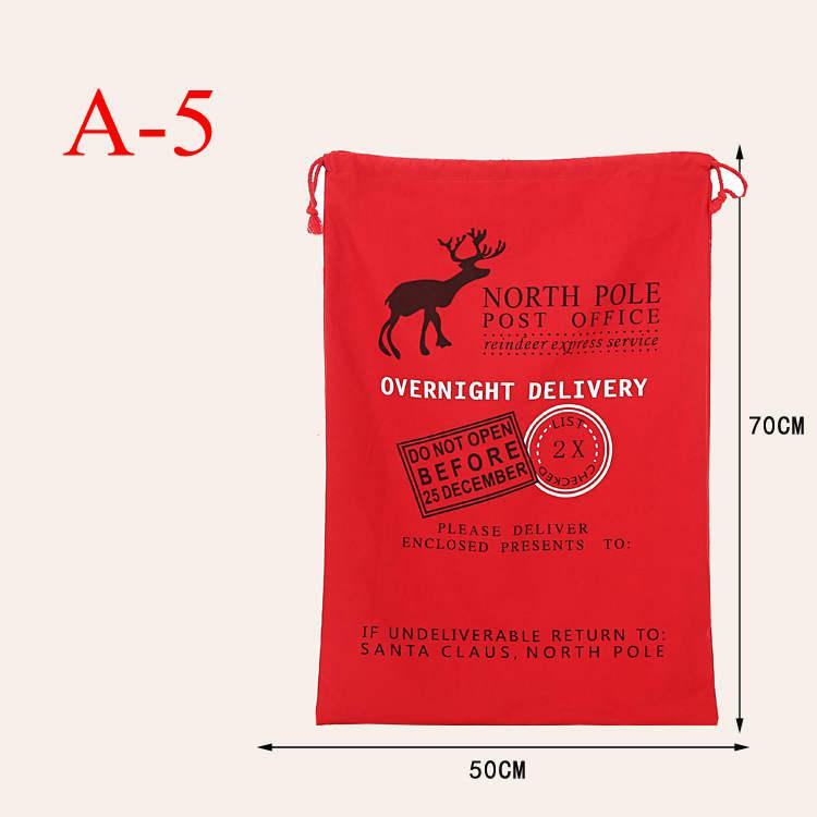 Weihnachtsgeschenk Sack Taschen 11styl Santa Claus X'Mas Große Leinwand Kordelzug Tasche mit Rentiers Baumwolle