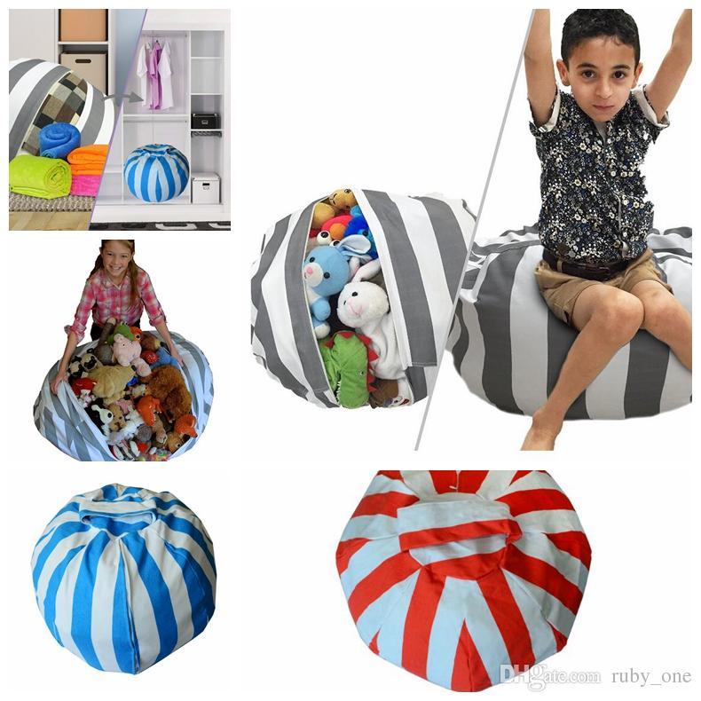 Storage Bean Bags Plush Toys Beanbag Chair Kids Bedroom Stuffed