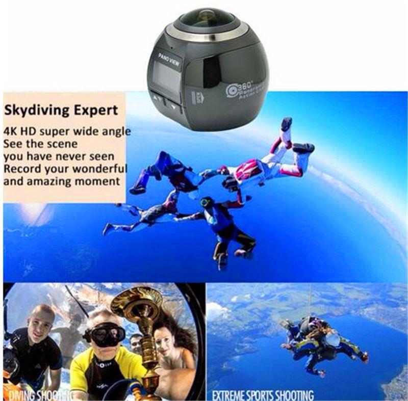 HDKing V1 hot selling 360 degree mini sport camera action camera wifi waterproof 360 degree camera