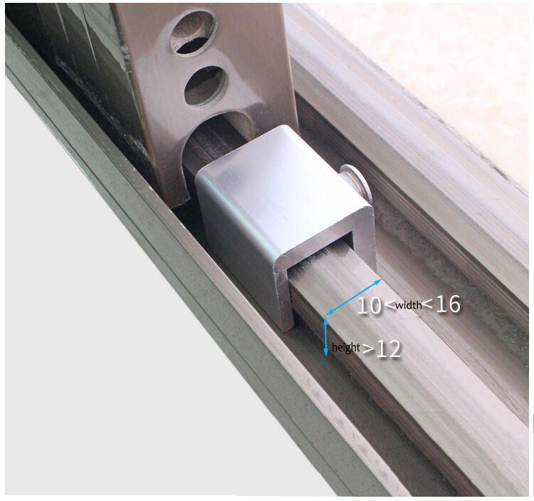 Verrou de fenêtre en acier en plastique Anti-vol déduction sécurité chaîne chaîne hôtel maison enfant porte coulissante serrure de verrouillage DIY matériel