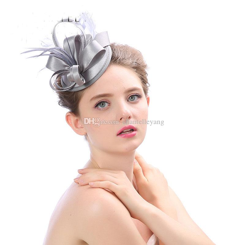 2017 New Wedding Hair Accessories Bridal Headwear Fashion Tea Party Hats Feather Bridal Fascinator Lady Hats for Women hats