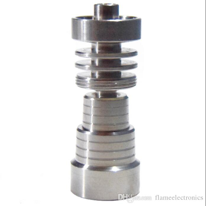 Universal Domeless 4 In 1 GR2 Titanium Nail 14mm&18MM for Water Pipe Glass Water Smoking with Male and Female Joint for Dab Rigs