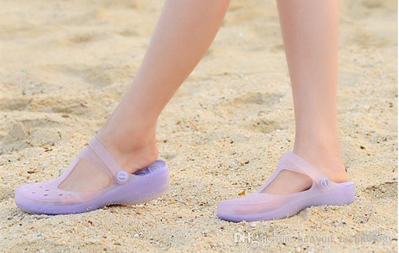 Woman Summer Change Color Sandals Beach Shoes Girls Jelly Female Garden Shoes Get Shoes Decorative Flowers
