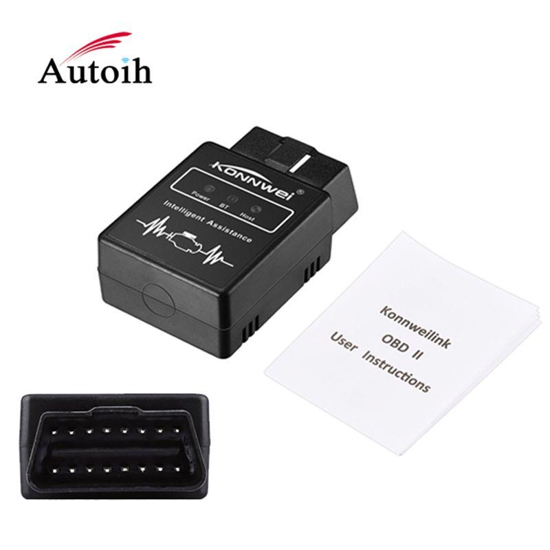 KONNWEI KW912 OBDII Bluetooth 3.0 OBD2 OBD II Auto Code Scanner Adapter Scan Tool