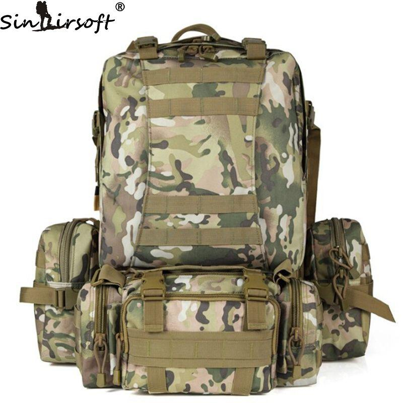 SINAIRSOFT 50L Molle Backpack Tactics Male Military Backpack High Capacity  Assault Travel Military Rucksacks Backpacks Army Bag LY0017 Backpacking  Backpacks ... 6b501ba36edad