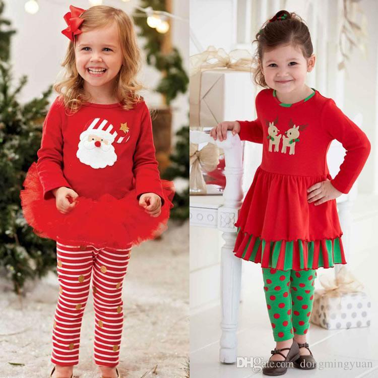 Grosshandel Weihnachten Geburtstag Outfit Fur Baby Madchen Set