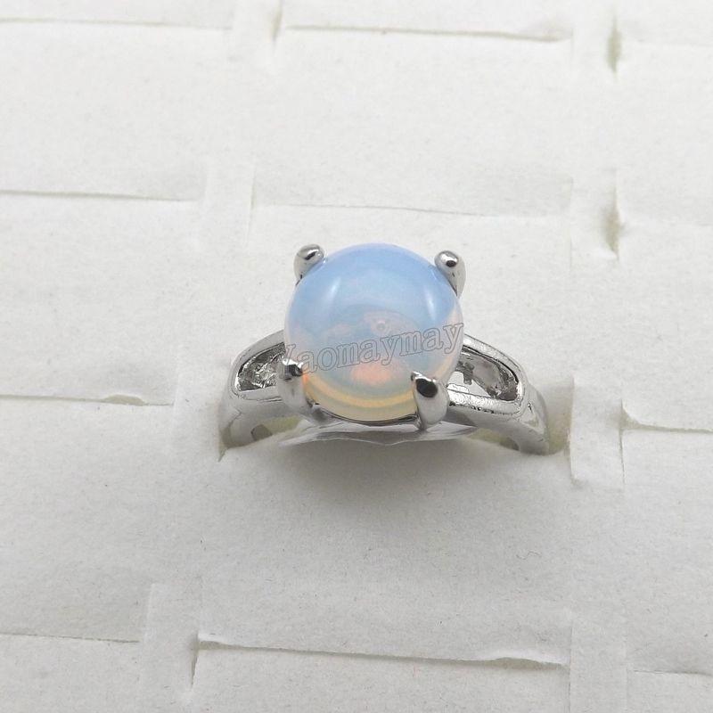 Природный опал драгоценный камень кольца ювелирные изделия женщин кольцо Bague 50 шт. Бесплатная доставка