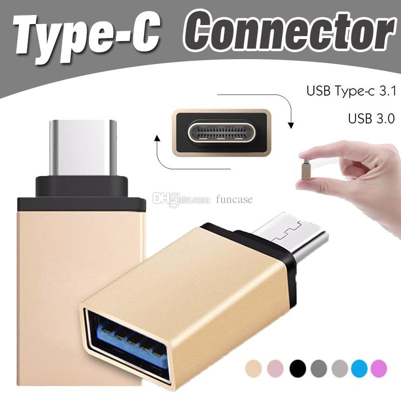 Metal USB 3 1 Type C OTG Adapter Male to USB 3 0 A Female Converter Adapter  OTG Function for iPhone Samsung Macbook Google Chromebook Xiaomi