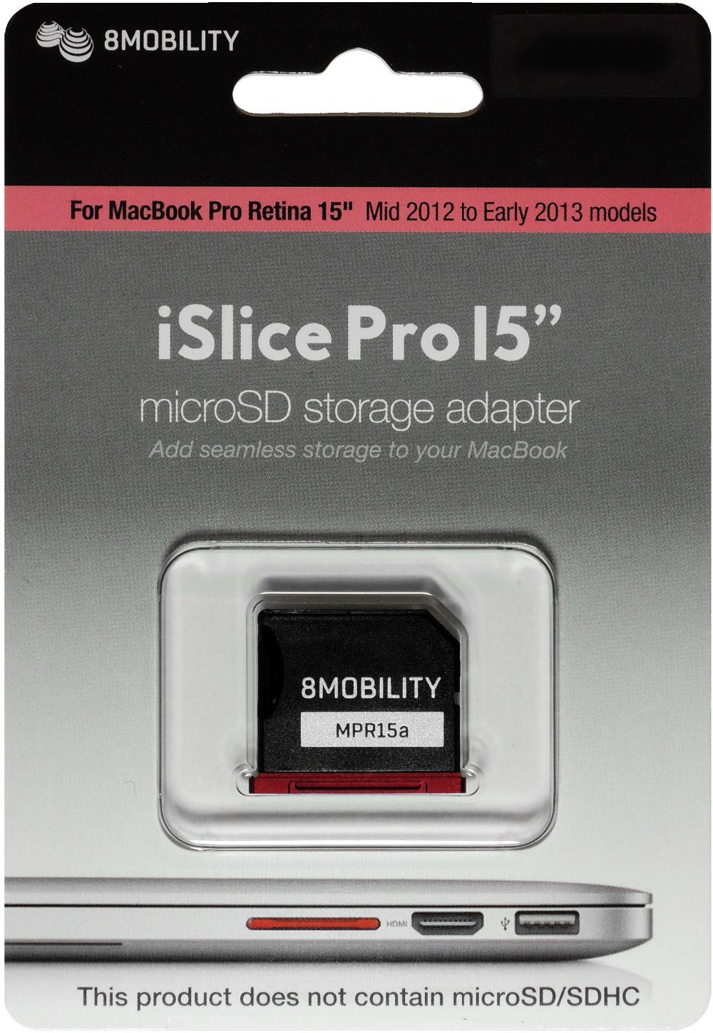 """8Mobility Islice Aluminum Memory card Reader Adapter For MacBook Retina 15"""" A1398 Mid 2012 ~ Early 2013 EMC2512 EMC2673 Red"""