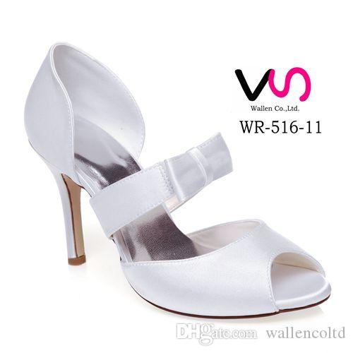 New Style Wr 516 11 Dyeable Ivory Color Sandal Bridal Shoes Wedding Dress Handmade Evening Prom Party Euro Size35 42