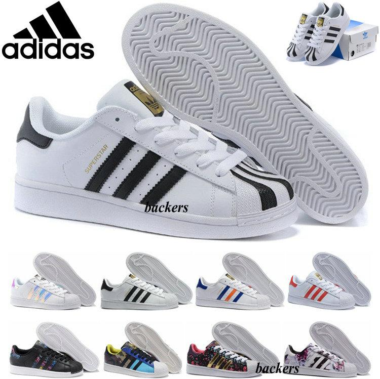 Adidas Superstar Originals 2016 New Women Men Shoe Superstars Casual Shoes  Camouflage Super Star Sneakers Cheap Size 36 45 Navy Shoes Blue Shoes From  ...