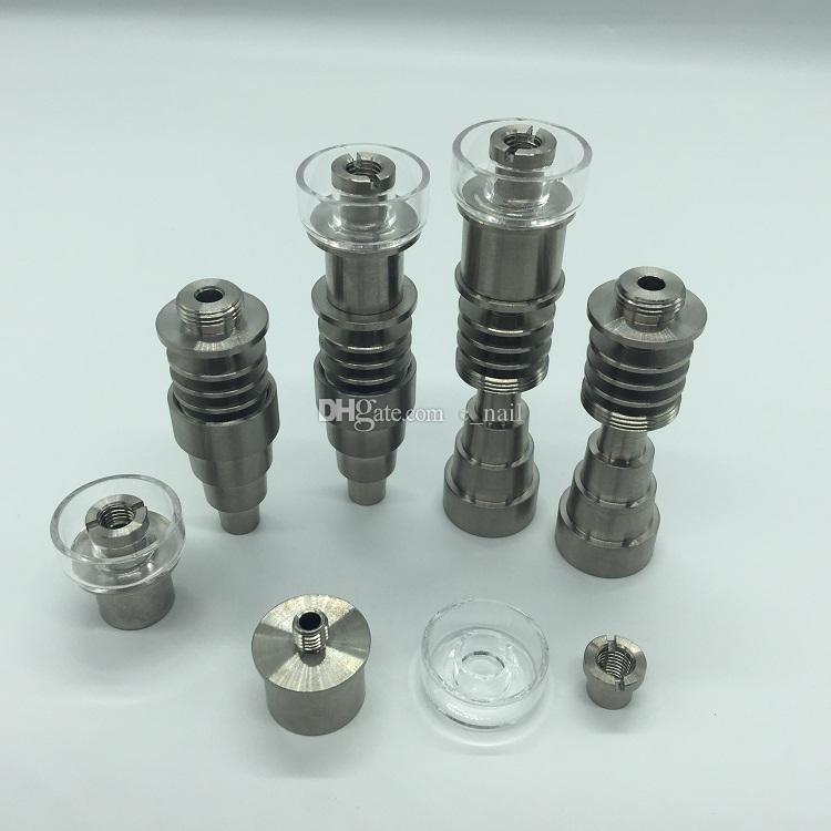 DHL 무료 새 업그레이드 10 / 14 / 18mm 6 in1 조정 가능한 티타늄 / 석영 하이브리드 전자 손톱 16mm 또는 20mm 히터에 적합 재고 있음 코일