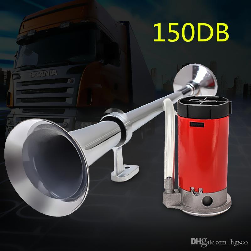 유니버설 싱글 트럼펫 에어 혼 150dB 12V 크롬 트럭 트럭 승용차 보트 시끄러운 소리 AUP_50F