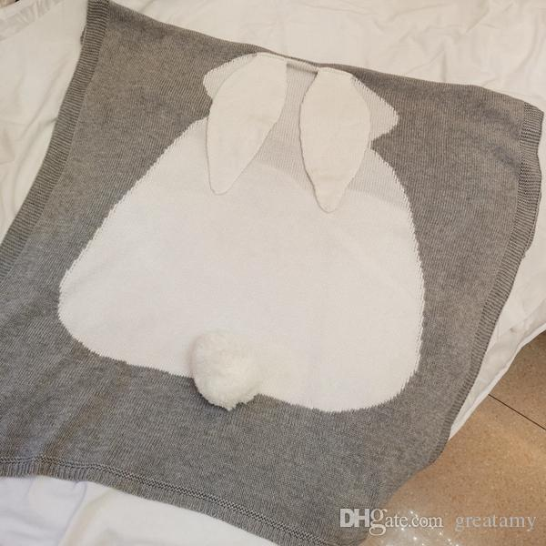 Baby blanket Wake Up Kids boy girl blankets Bedding cover newborn swaddle manta baby knitted Lovely Rabbit blankets