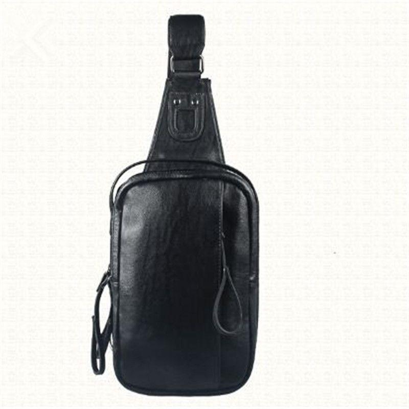 Poitrine en cuir des hommes en gros Voyage Randonnée pédestre équitation Sling Bag pour les hommes Cross Shoulder Bag Sling Poitrine Casual sac à dos out283